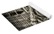 Fishing - All That Gear In Black And White Yoga Mat