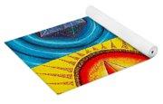 Five Platonic Solids - Fire Yoga Mat