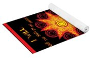 Flaming Celtic Sun Yoga Mat