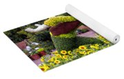 Flower And Garden Signage Walt Disney World Yoga Mat