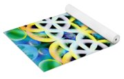 Flower Bubbles Yoga Mat