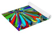 Flower Fight Abstract Yoga Mat