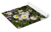 Flower Mix - Purple And White Yoga Mat