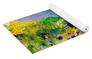 Flowered Village Yoga Mat