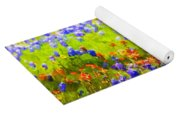 Flowers Field Background Yoga Mat