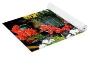 Flowers For Sale In Marketplace In Tachilek-burma Yoga Mat