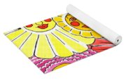 Flowers With Faces Yoga Mat