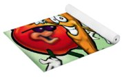 Food Groups Party Yoga Mat