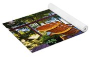 Forest Cottage Deck And Chairs Yoga Mat