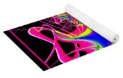 Fractal 15 Color Cacophony  Yoga Mat