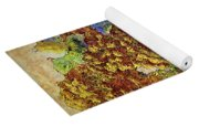 French Country Print Yoga Mat