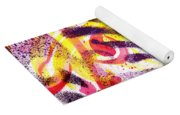French Curve Abstract Movement Vi Mystic Flower Yoga Mat