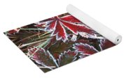 Frost On Wild Strawberry Yoga Mat