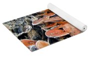 Frosted Cascading Mushrooms Yoga Mat