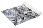 Frosted Glass Abstract Yoga Mat