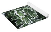 Frosty Leaves Macro Yoga Mat