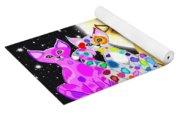 Full Moon Felines Yoga Mat