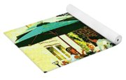 Garden Party Celebrations Under The Cool Green Umbrellas Of Restaurant Chase Cafe Art Scene Yoga Mat