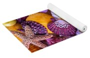 Gerbera With Seashells Yoga Mat