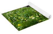 Glacier Lilies And Globeflower Beside A Mountain Stream Yoga Mat