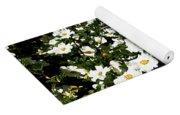 Glorious White Roses Db Yoga Mat