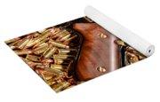 Gold 9mm Beretta With Brass Ammo Yoga Mat