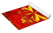 Gold Flowers Yoga Mat