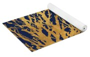 Gold Medley On Navy Yoga Mat
