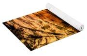 Golden Caverns Yoga Mat