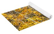 Golden Leaves In Autumn Abstract Yoga Mat