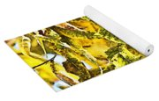 Golden Pecan Leaves Abstract Yoga Mat