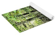 Golden Silence In The Forest Yoga Mat