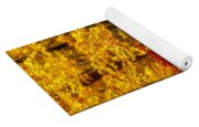 Golden Trees Glowing Yoga Mat