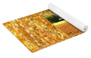 Golden Weeping Birch Tree Collage Yoga Mat