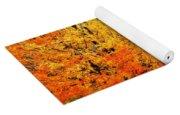 Grassy Autumn Road Yoga Mat
