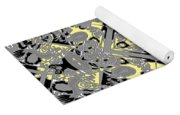Gray And Yellow No. 1 Yoga Mat