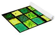 Green And Yellow Sudoku Yoga Mat