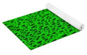 Green Drops On Water-repellent Surface Yoga Mat