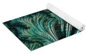 Green Palm - A Fractal Abstract Yoga Mat