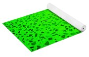 Green Representational Abstract Yoga Mat