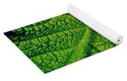 Green Ribbons Of Life Yoga Mat