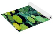 Green Shimmering Pond Yoga Mat
