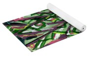 Green Tree With Pink Watercolor Yoga Mat
