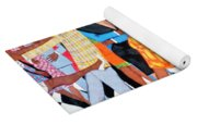 Groovin High In Nyc Yoga Mat