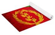 Grunge Eritrea Flag Yoga Mat