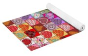 Heart Patches Yoga Mat