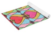 Hearts A'la Stained Glass Yoga Mat