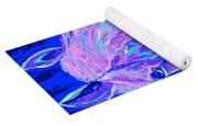 Horse Abstract Blue And Purple Yoga Mat