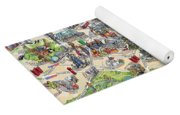 Illustrated Map Of London Yoga Mat