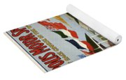 Indianapolis Motor Speedway - Vintage Lithograph Yoga Mat